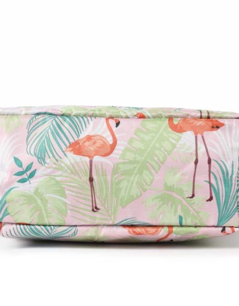 Nylon Amber Flamingo Monstera Pink