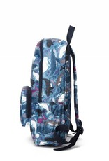 Nylon Backpack Song Whales Blue