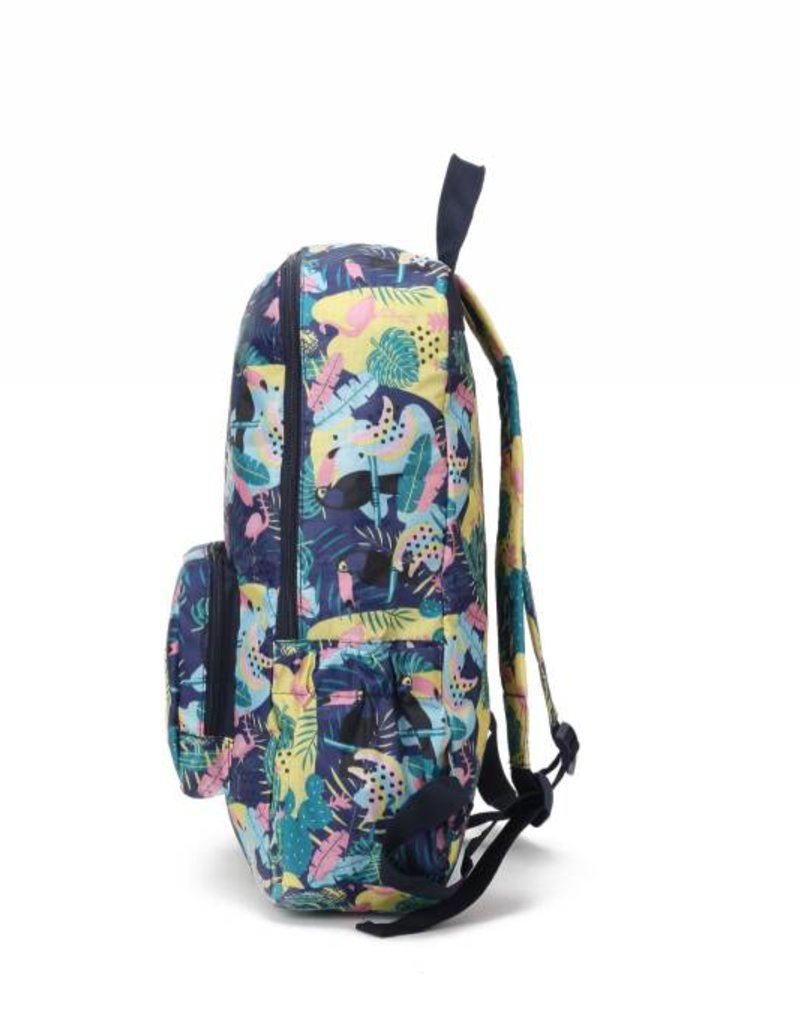 Happy Wahine Nylon Backpack Song Parrot Blue