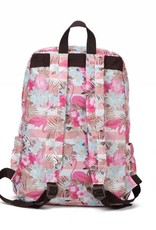 Nylon Backpack Song Flamingo Stripes Pink