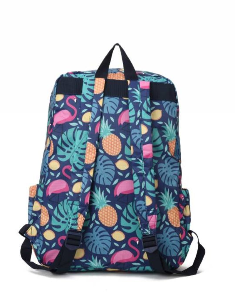 Nylon Backpack Song Monstera Pine Blue