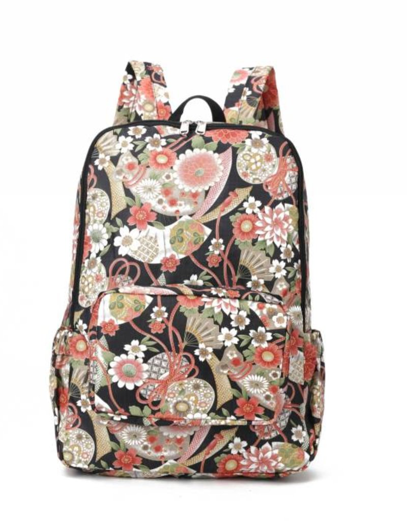 Happy Wahine Nylon Backpack Song Asian Black