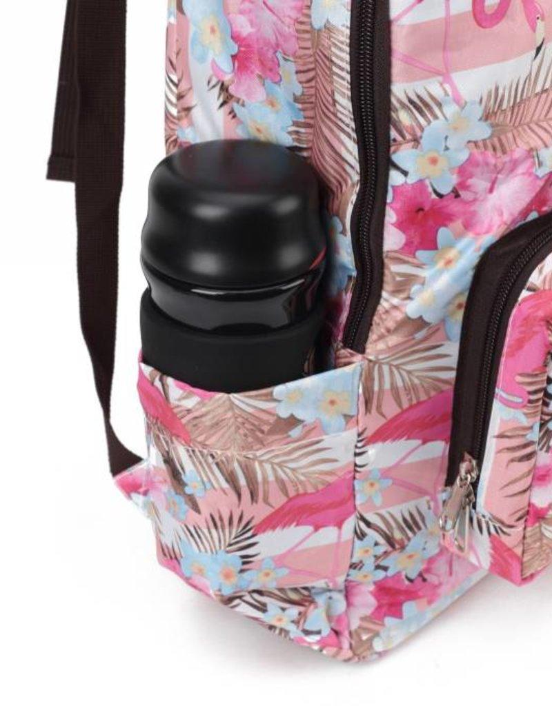 Nylon Backpack Song Flamingo Stripes Pink