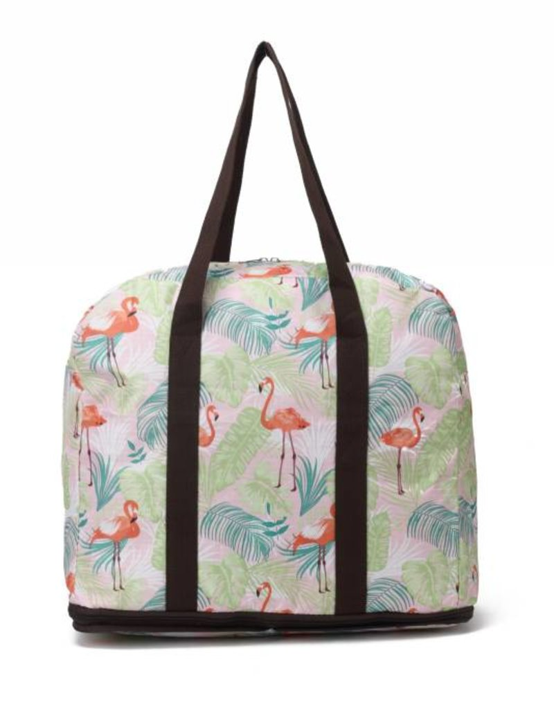 Nylon Duffle Sophie Flamingo Monstera Pink