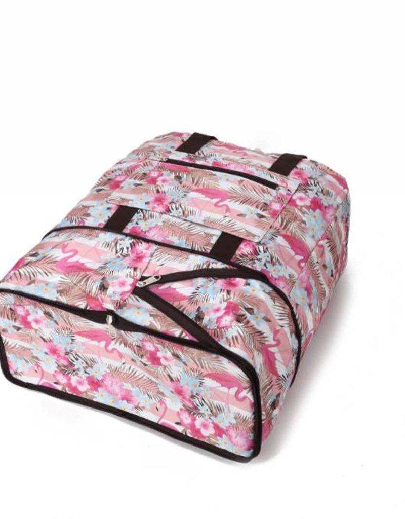 Happy Wahine Nylon Duffle Sophie Flamingo Stripes Pink