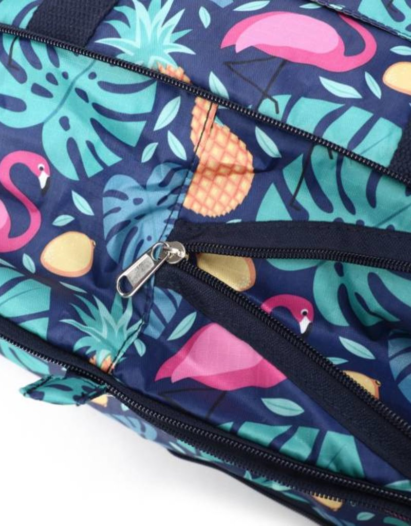 Nylon Duffle Sophie Monstera Pine Blue