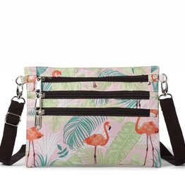 Happy Wahine Nylon Jonelle Flamingo Monstera Pink