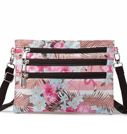 Happy Wahine Nylon Jonelle Flamingo Stripes Pink