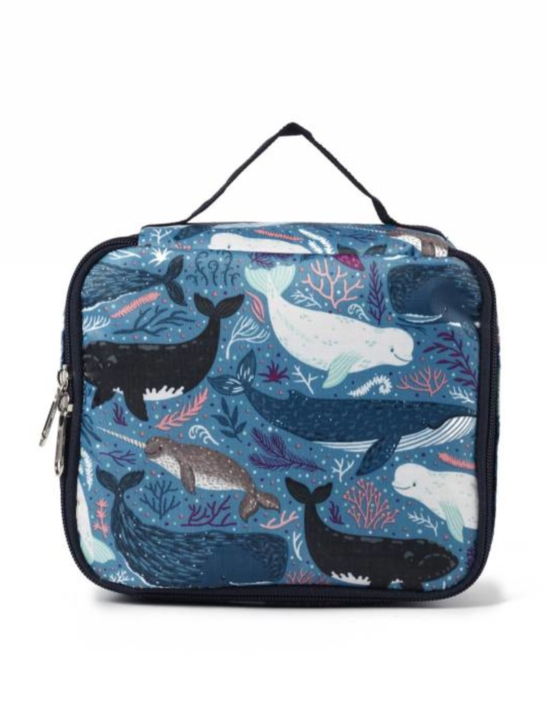 Happy Wahine Nylon Leah Small Whales Blue