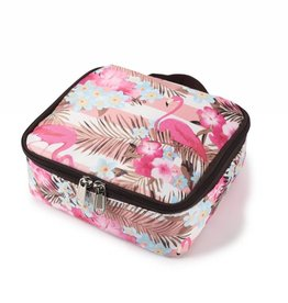 Nylon Leah Small Flamingo Stripes Pink