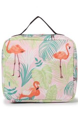Nylon Leah Large Flamingo Monstera Pink