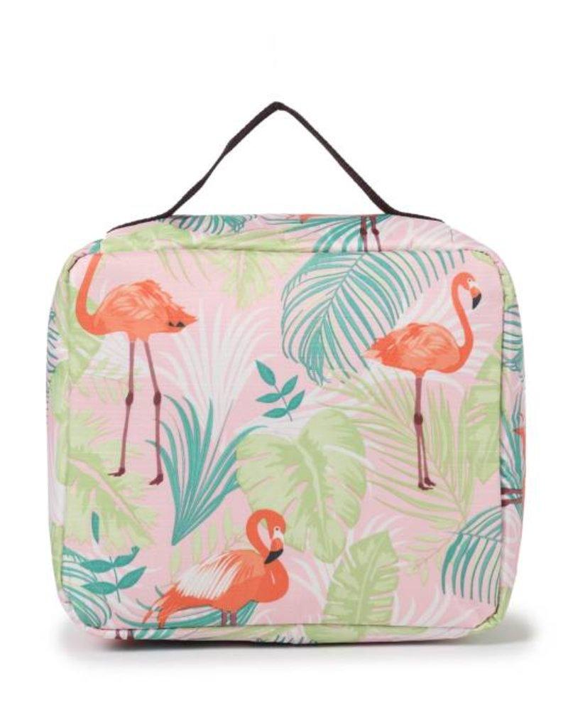 Happy Wahine Nylon Leah Large Flamingo Monstera Pink