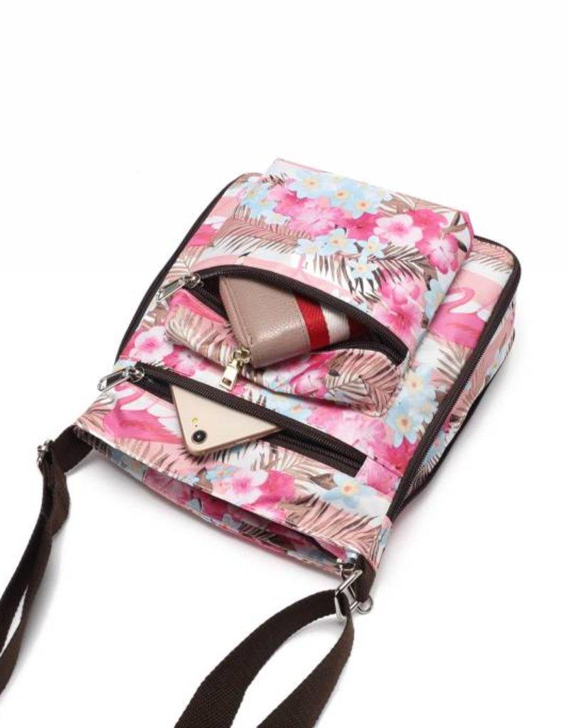 Happy Wahine Nylon Deanna Flamingo Stripes Pink