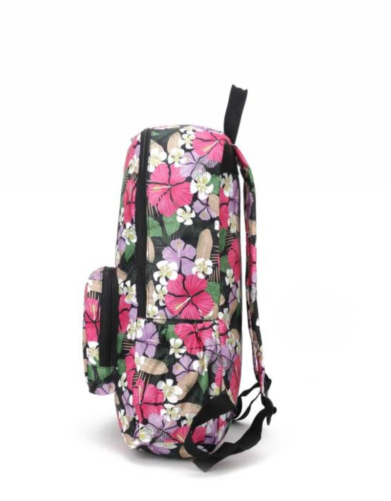 Nylon Backpack Song Hibiscus Pink Purple