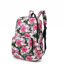 Happy Wahine Nylon Backpack Song Hibiscus Pink Purple