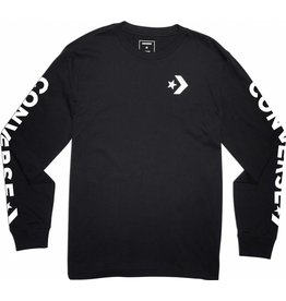 CONVERSE STAR CHEVRON WORDWARK LS TEE 10006013-A01 001 BLACK