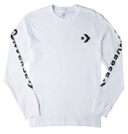 CONVERSE STAR CHEVRON WORDWARK LS TEE 10006013-A03 102 WHITE