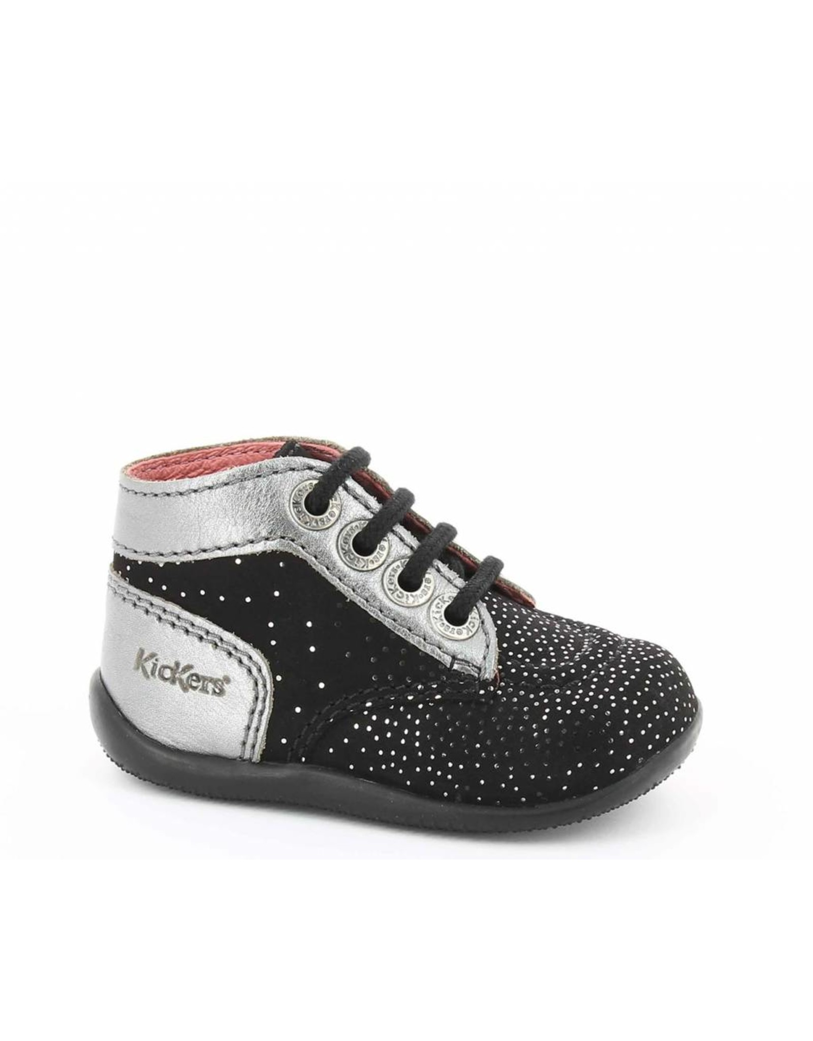KICKERS BONBON NOIR METALLIQUE KR3NM 18H446826-10