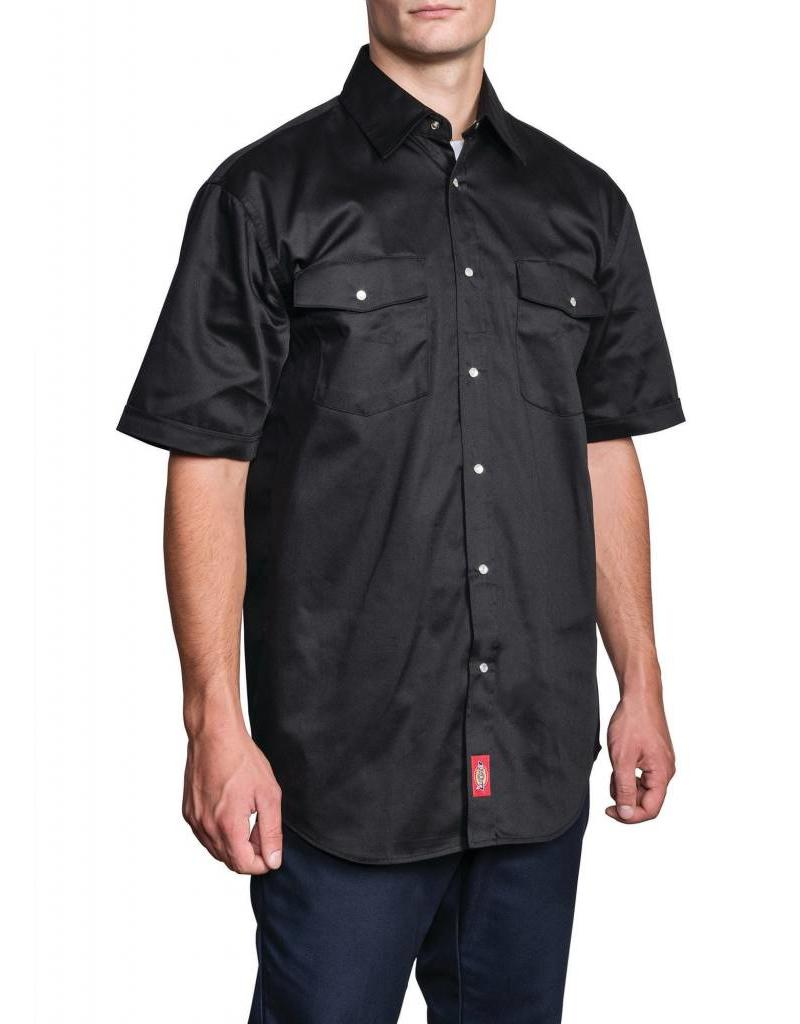 DICKIES Short Sleeve Snap Work Shirt
