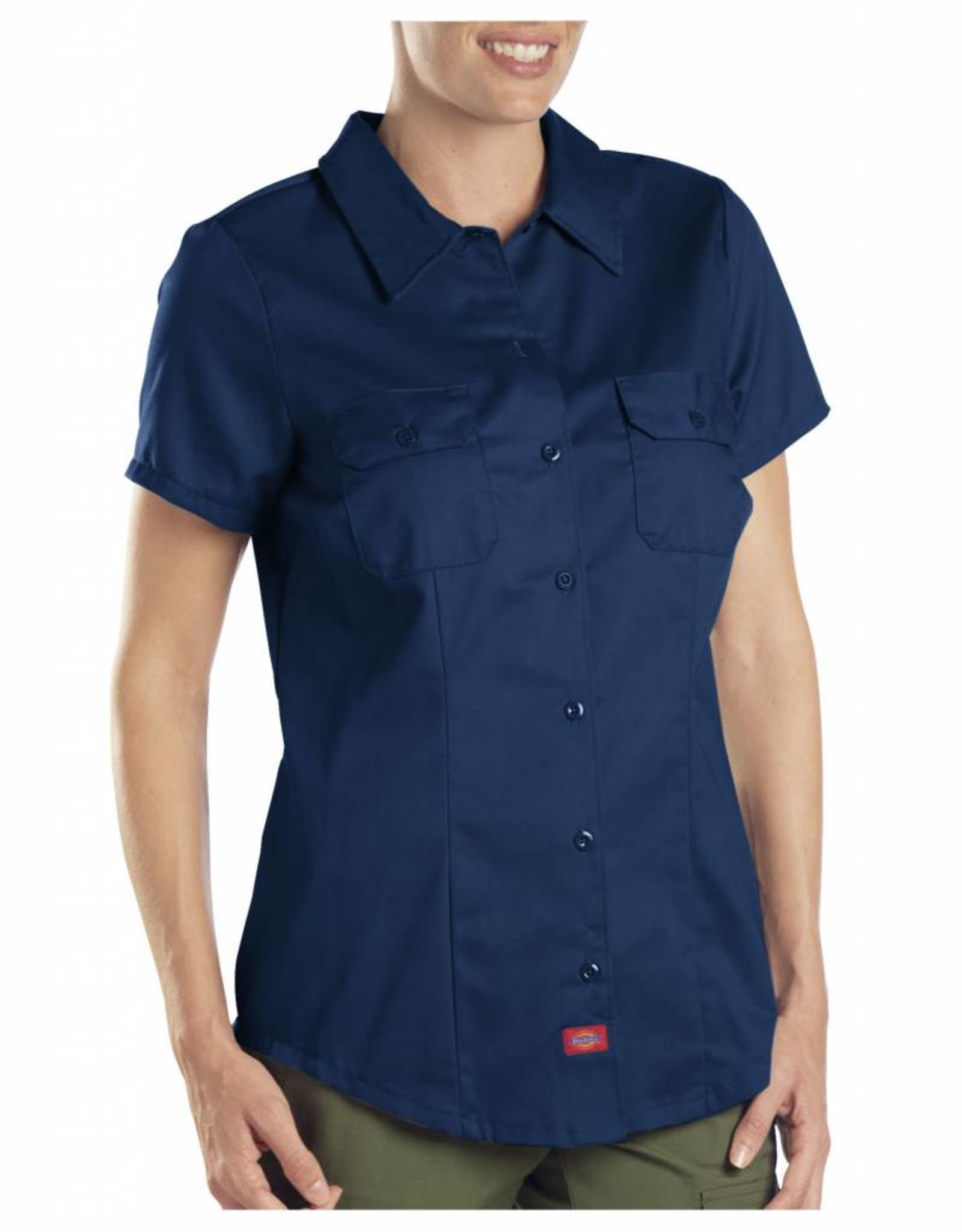 DICKIES Women`s Short Sleeve Work Shirt