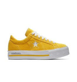 CONVERSE ONE STAR PLATFORM OX VIBRANT YELLOW CS887MY -561393C