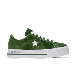 CONVERSE ONE STAR PLATFORM OX SUEDE GARDEN GREEN/WHITE CS887MG - 561392C