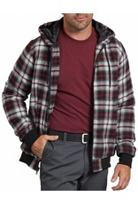 DICKIES Quilted Flannel Bomber Hooded Shirt Jacket TJ204