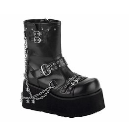 "DEMONIA CLASH-430 3 1/2"" PF Goth Punk Lolita Detachable Chains Calf BT D21BSC"
