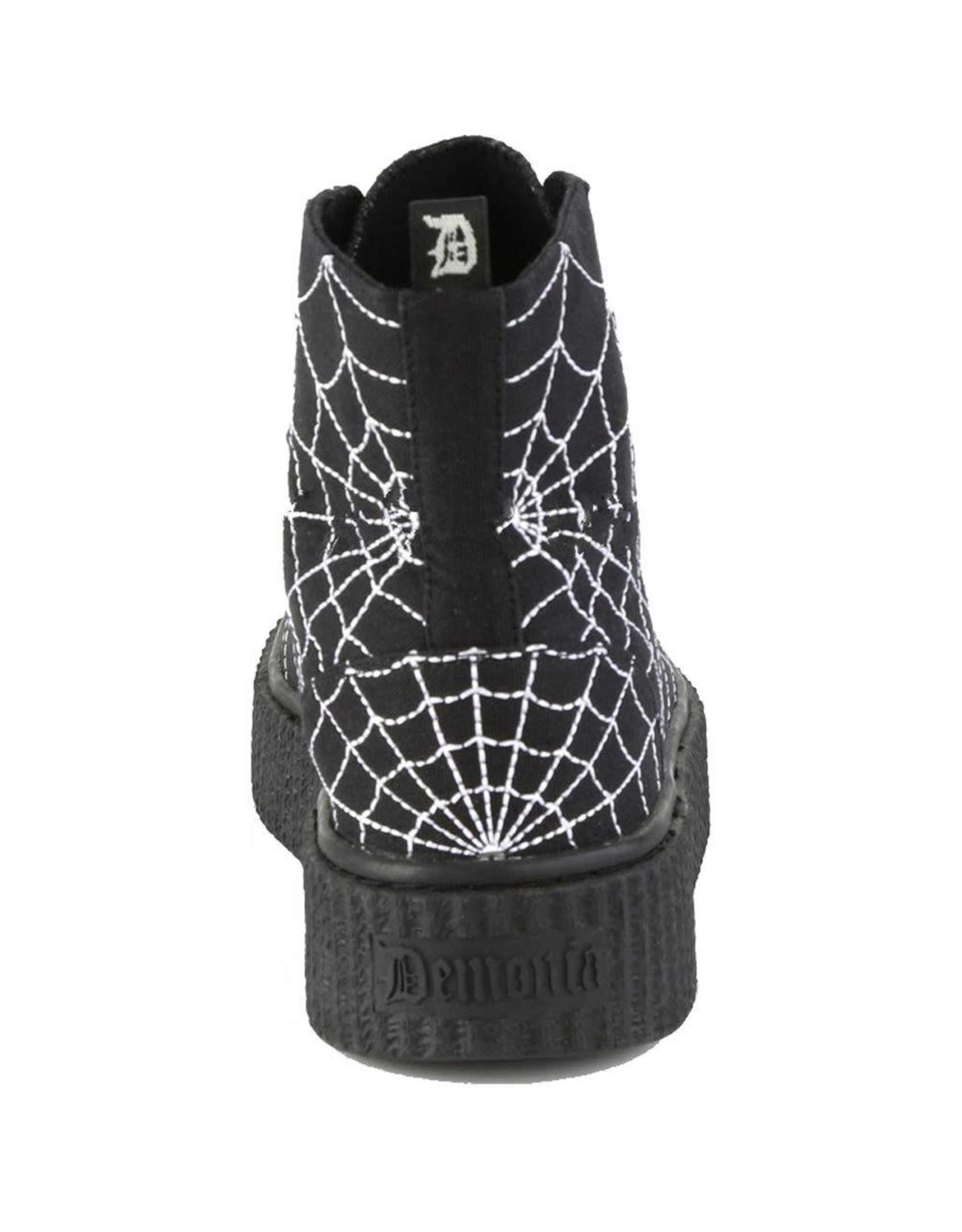 """DEMONIA SNEEKER-250 1 1/2""""PF Round Toe Lace-Up Front High Top Creeper Sneaker D15CSW"""