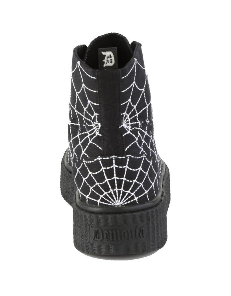 "DEMONIA SNEEKER-250 1 1/2""PF Round Toe Lace-Up Front High Top Creeper Sneaker D15CSW"