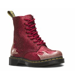 DR. MARTENS 1460 PASCAL FLAME PINK+RED+RED COATED GLITTER+CHROME PAINT METALLIC+GLITTER 815GFR-R24034689