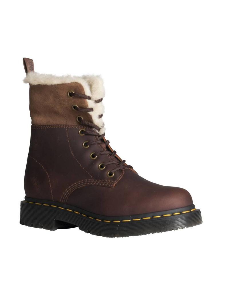 DR. MARTENS 1460 KOLBERT DARK BROWN??? SNOWPLOW WP?? WATERPROOF SUEDE 815KSDB-R24014201
