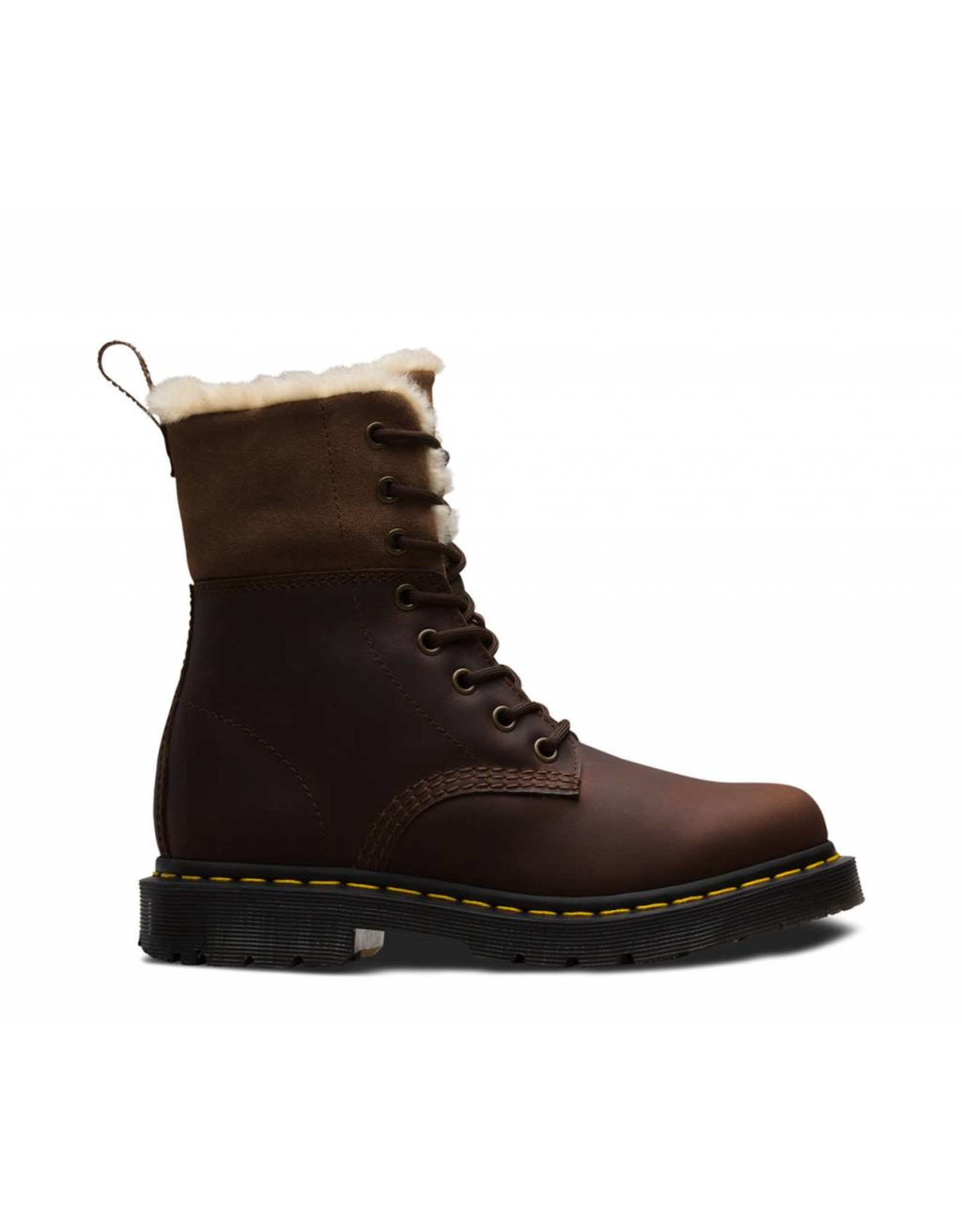 DR. MARTENS 1460 KOLBERT DARK BROWN SNOWPLOW WP WATERPROOF SUEDE 815KSDB-R24014201