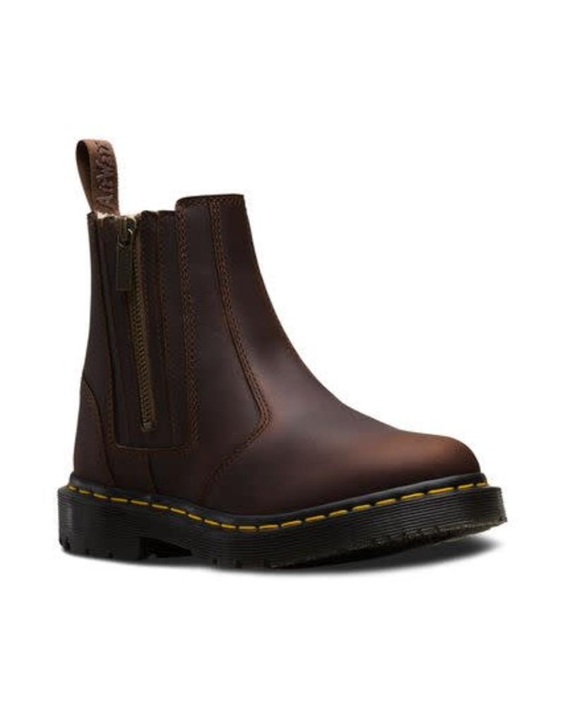DR. MARTENS 2976 ALYSON W/ZIPS DARK BROWN SNOWPLOW WP E16DB-R24017201