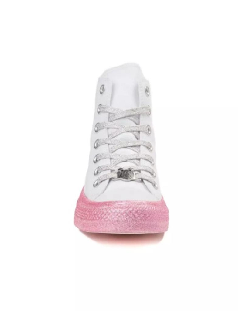 CONVERSE CHUCK TAYLOR AS HI WHITE/PINK DOGWOOD/BLACK C18MCW-162239C