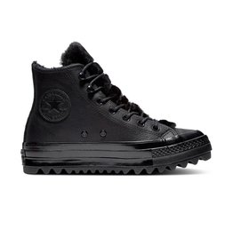 CONVERSE CHUCK TAYLOR LIFT RIPPLE HI LEATHER BLACK/BLACK/BLACK C18LRB-562422C