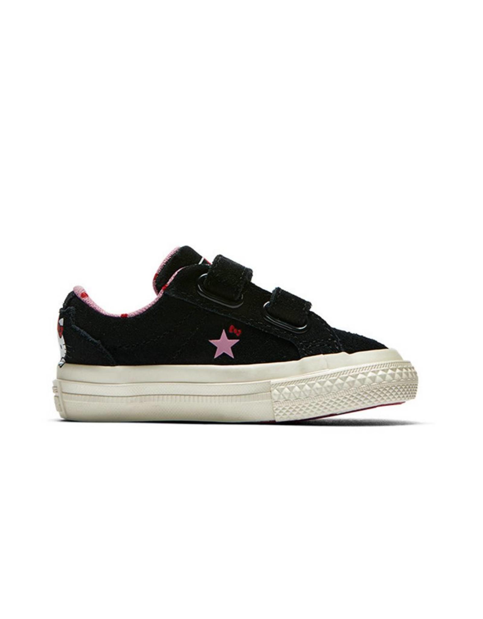 CONVERSE ONE STAR 2V HELLO KITTY OX BLACK/PRISM PINK/EGRET HELLO KITTY CRVP-762942C