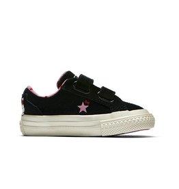 CONVERSE ONE STAR 2V OX BLACK/PRISM PINK/EGRET CRVP-762942C