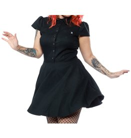 SOURPUSS - Checkered Hunter Green Dress