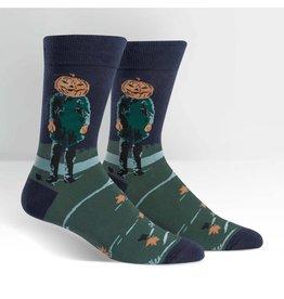 SOCK IT TO ME - Men's Pumpkin Head Crew Socks