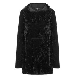BANNED - Minimal Goth Velvet Hoodie Dress