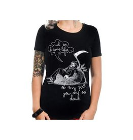 TOO FAST - OMG, You Are So Dead! Grim Reaper Babydoll T Shirt