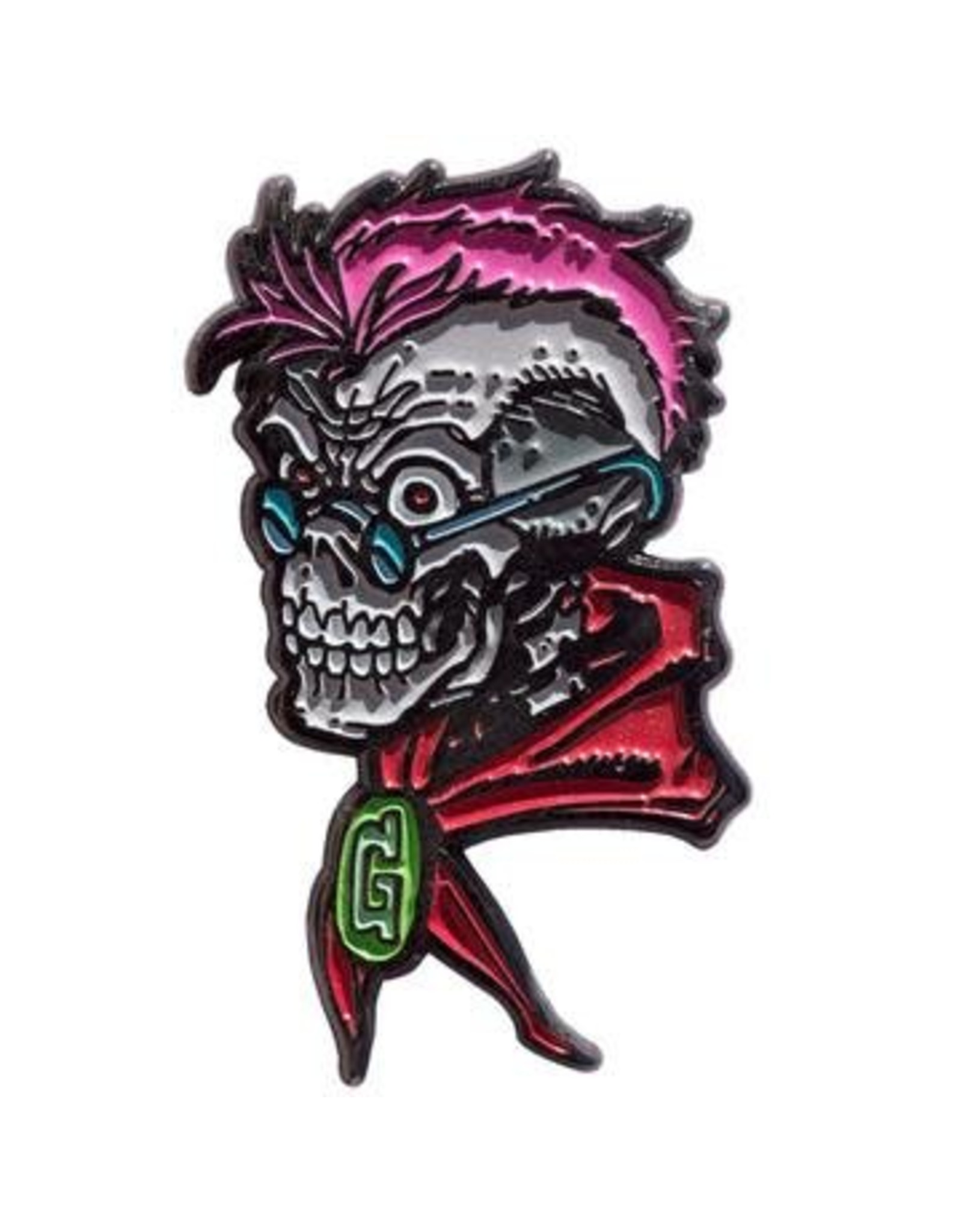 KREEPSVILLE 666 - Goosebumps Curly Skull Enamel Pin