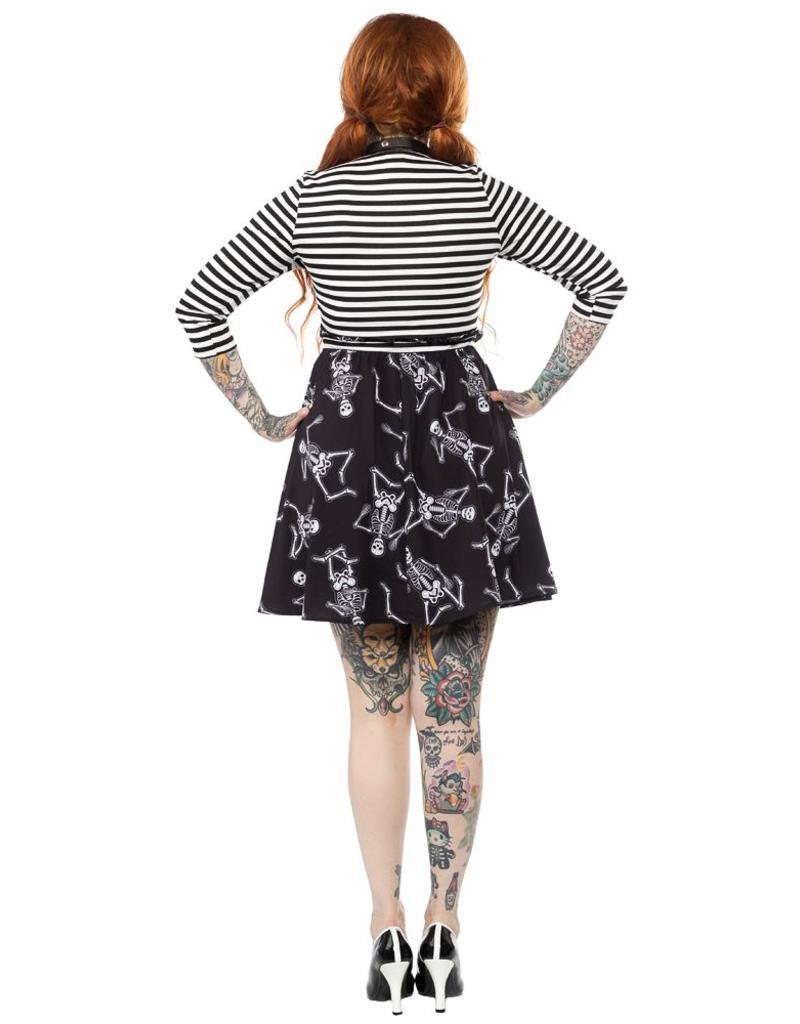SOURPUSS Dancing Skeletons Scoop Dress