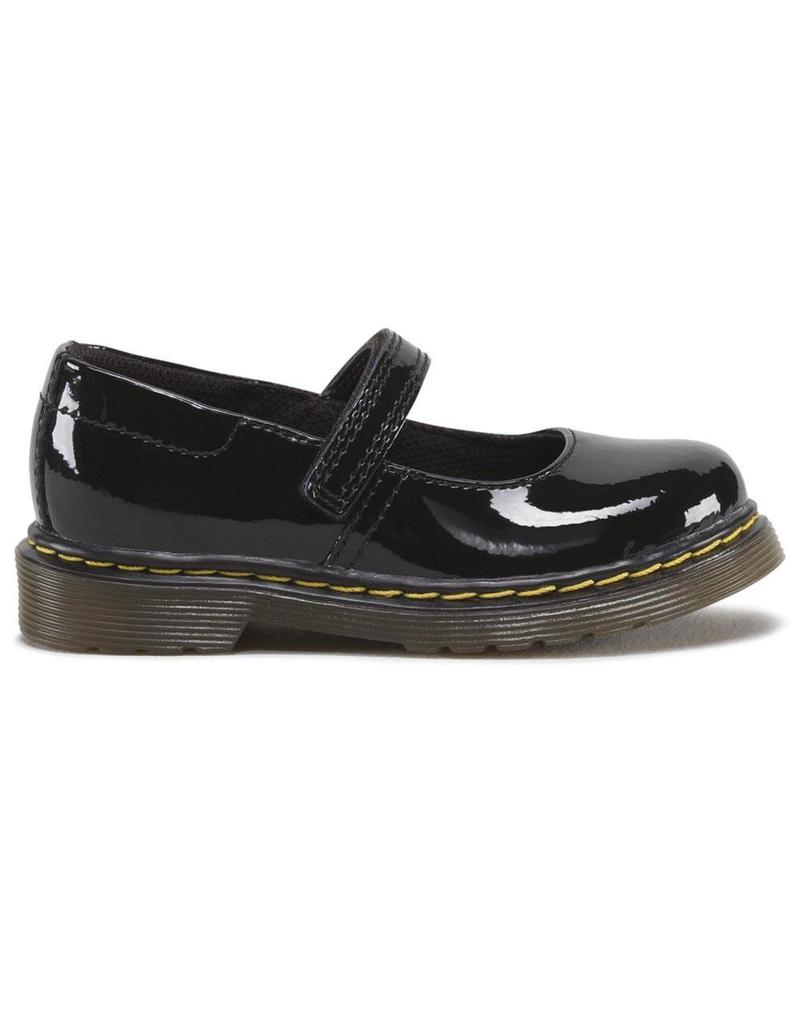 DR. MARTENS TULLY INFANTS MARY JANE BLACK PATENT YM2PB-R15654002