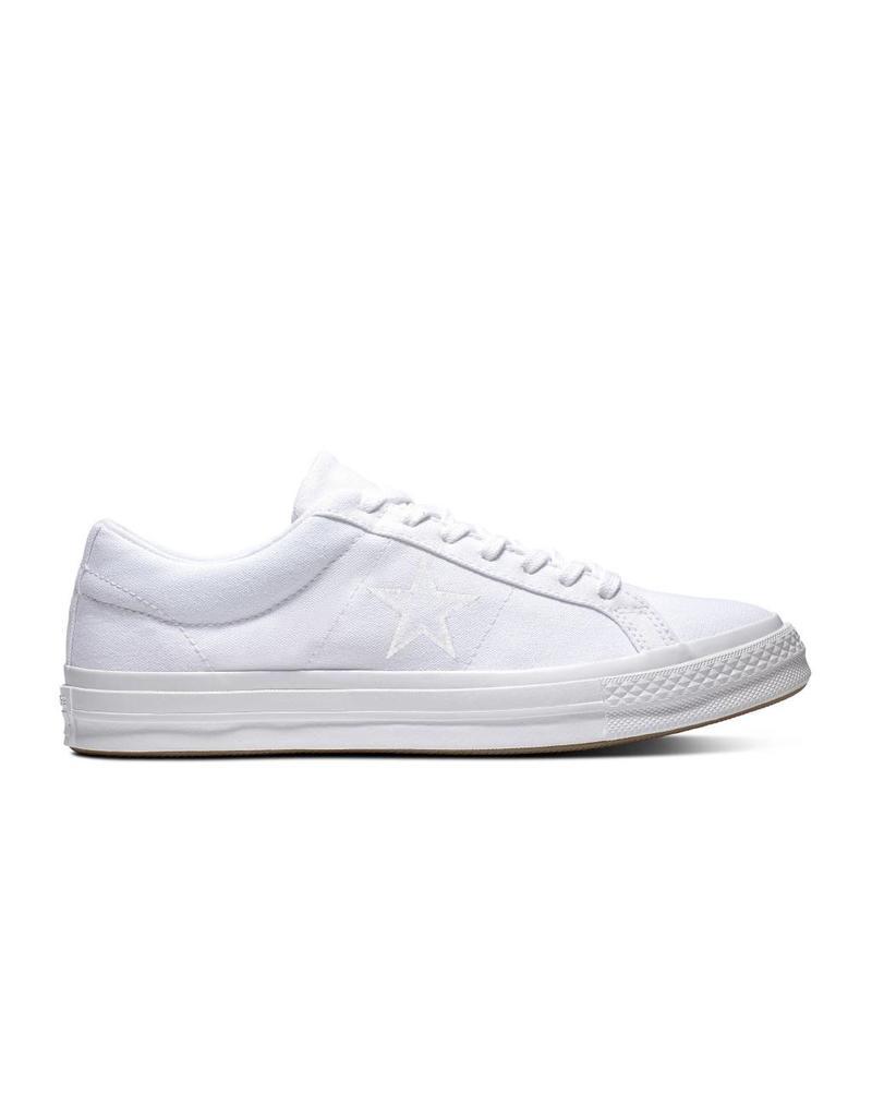 CONVERSE ONE STAR OX WHITE/WHITE/WHITE C987W-163377C