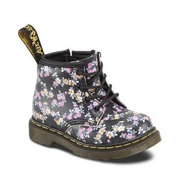 DR. MARTENS BROOKLEE B BLACK+PURPLE FLOWERS Y400BFL-R15933001
