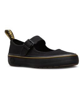 DR. MARTENS LILLY INFANTS MARY JANE BLACK CANVAS YM51B-R16226001