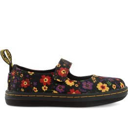 DR. MARTENS LILLY INFANTS MARY JANE BLACK GARDEN CANVAS YM51FL-R16226002