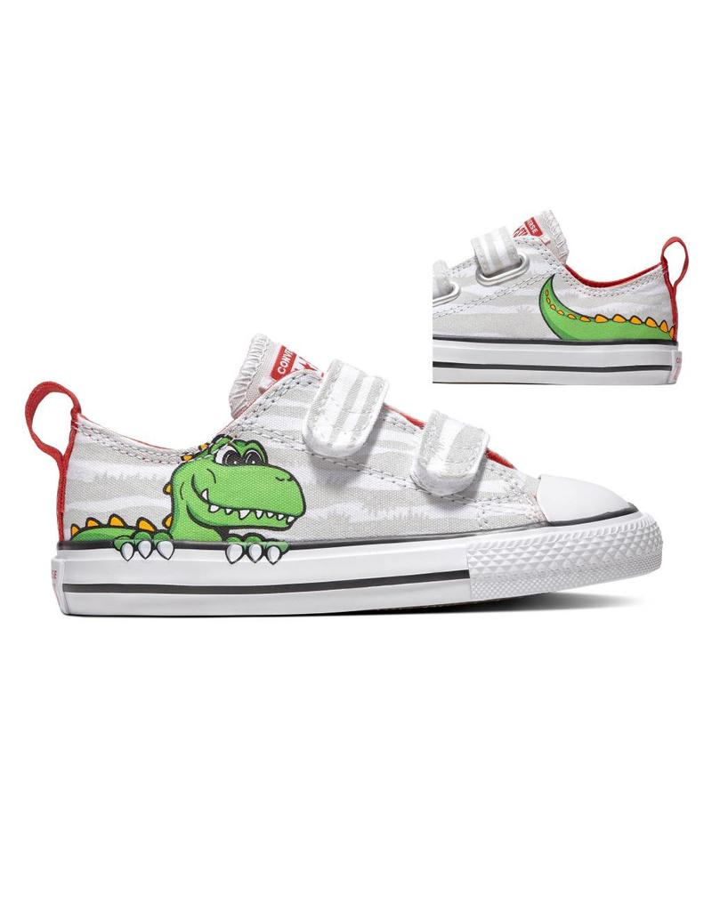 CONVERSE CTAS 2V OX WHITE/MOUSE/ENAMEL RED CKVWH-763573C